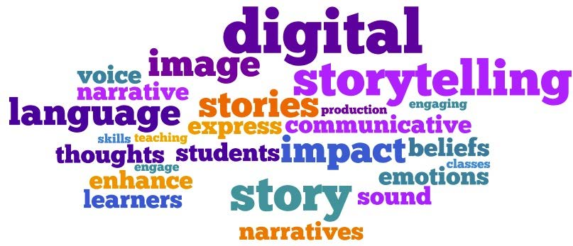 Digital storytelling Wordle image