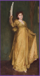 Photo of portrait Practising the Minuet (Miss Hilda Spong) 1893 by Tom Roberts