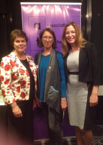 Jennifer Mayers, Lesley Cioccarelli and Yvette Berry MLA